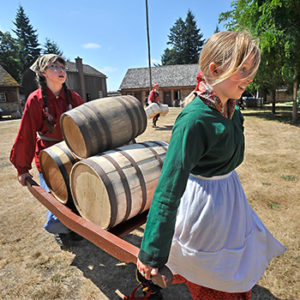 History reenactment at Fort Nisqually at Point Defiance Park for plan your day