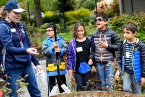 BioBlitz kids and Zoo staff