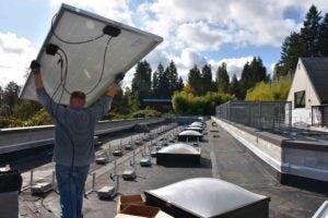 solar panel instalaltion