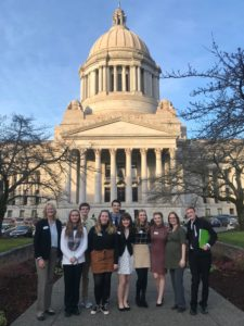 youth volunteers at the Olympia Capitol
