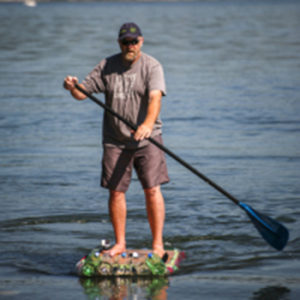 Man on paddle board