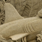 sand sculpture shark