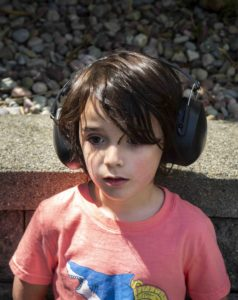 sensory boy wearing headphones