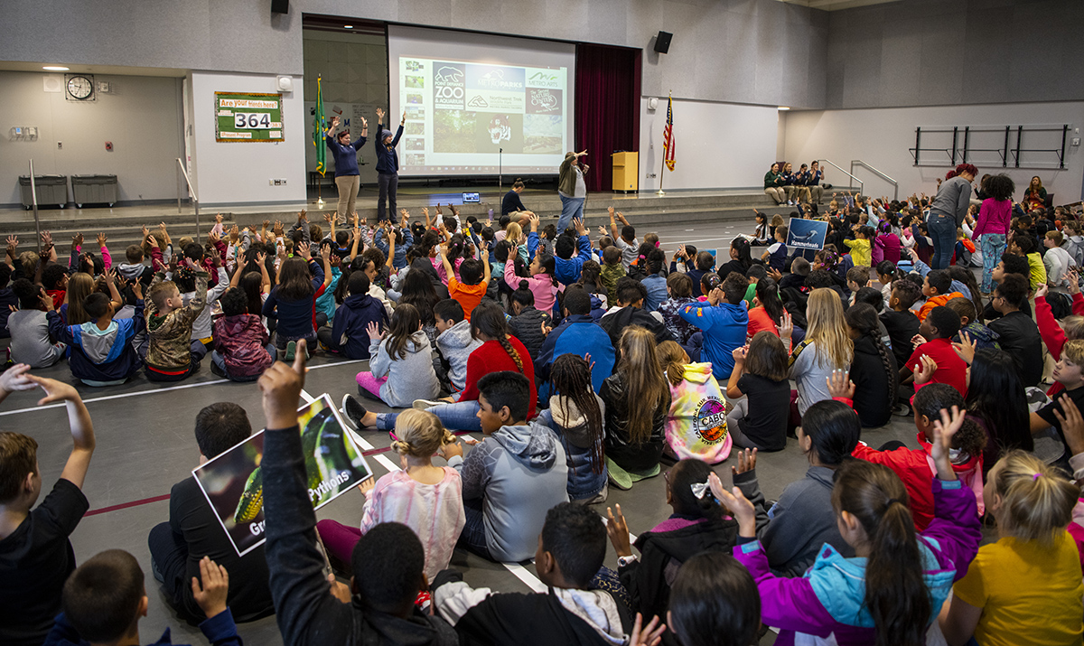 kids at wildlife assembly