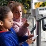 kids at turnstiles