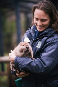 keeper with beaver
