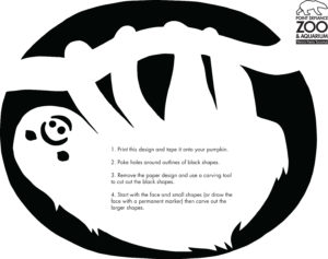 Sloth Pumpkin Carving Template