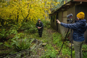 filming zoo keeper